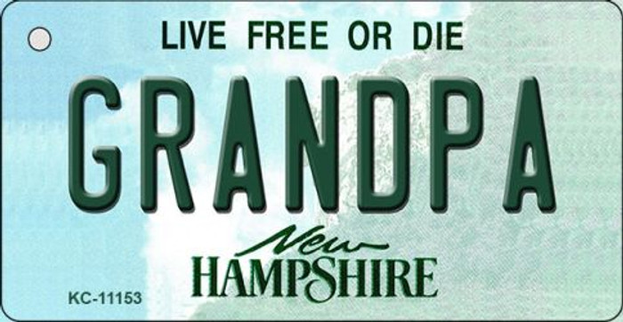 Grandpa New Hampshire State License Plate Key Chain KC-11153