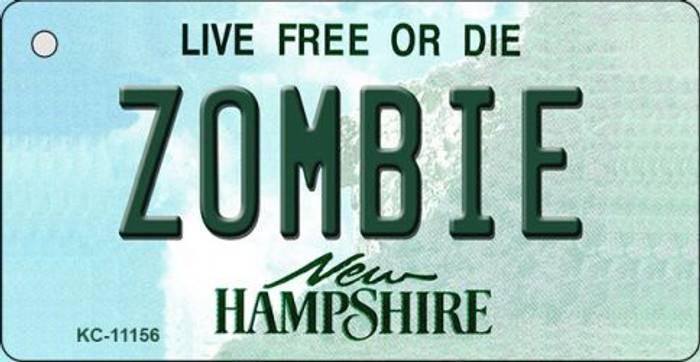 Zombie New Hampshire State License Plate Key Chain KC-11156