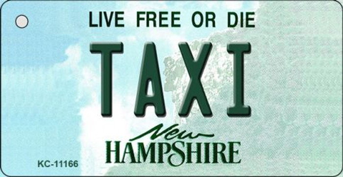 Taxi New Hampshire State License Plate Key Chain KC-11166