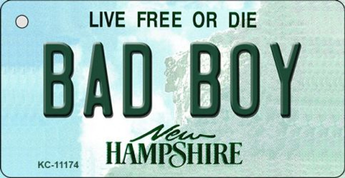 Bad Boy New Hampshire State License Plate Key Chain KC-11174