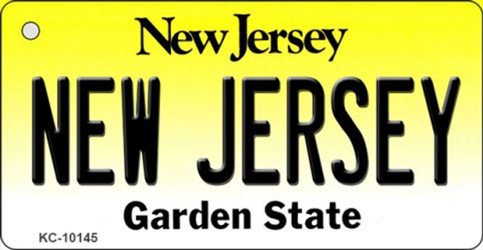 New Jersey State License Plate Key Chain KC-10145