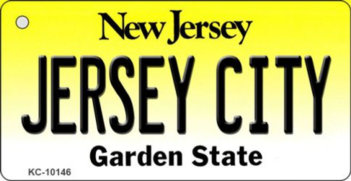 Jersey City New Jersey State License Plate Key Chain KC-10146