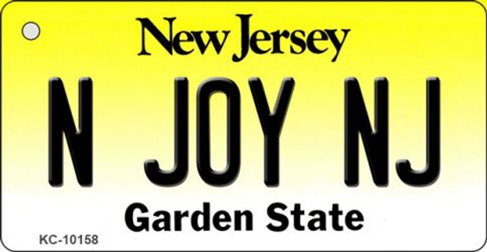 N Joy NJ New Jersey State License Plate Key Chain KC-10158