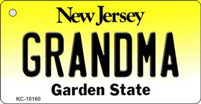 Grandma New Jersey State License Plate Key Chain KC-10160