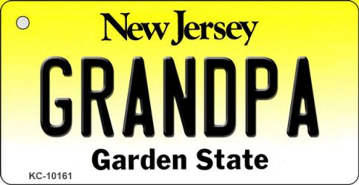 Grandpa New Jersey State License Plate Key Chain KC-10161