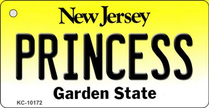 Princess New Jersey State License Plate Key Chain KC-10172