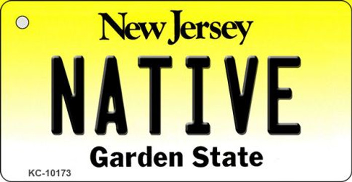 Native New Jersey State License Plate Key Chain KC-10173