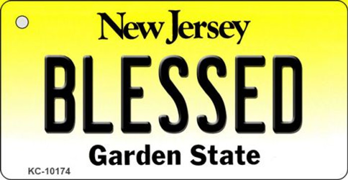 Blessed New Jersey State License Plate Key Chain KC-10174