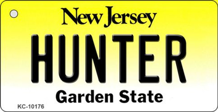 Hunter New Jersey State License Plate Key Chain KC-10176