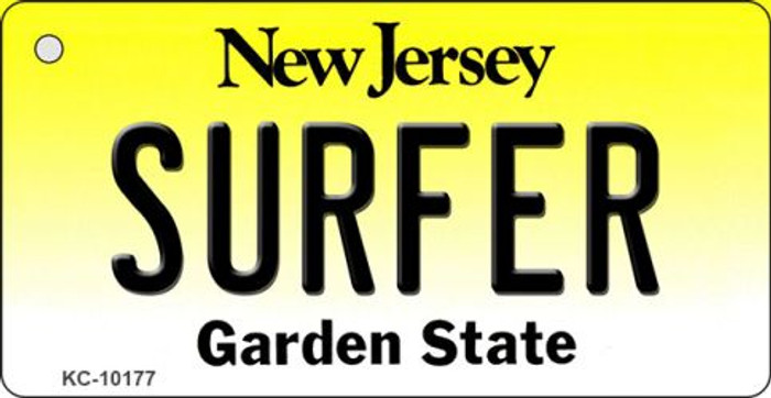 Surfer New Jersey State License Plate Key Chain KC-10177