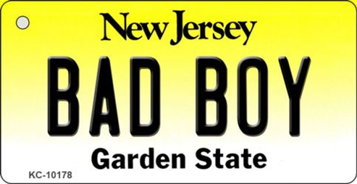 Bad Boy New Jersey State License Plate Key Chain KC-10178