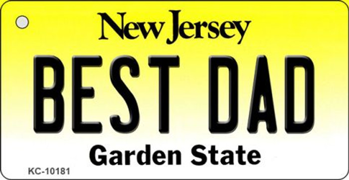 Best Dad New Jersey State License Plate Key Chain KC-10181