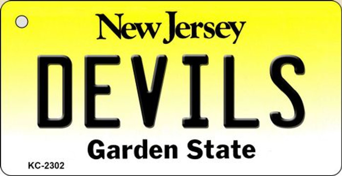 Devils New Jersey State License Plate Key Chain KC-2302
