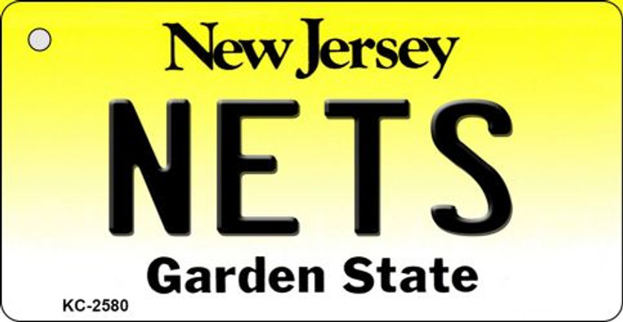Nets New Jersey State License Plate Key Chain KC-2580
