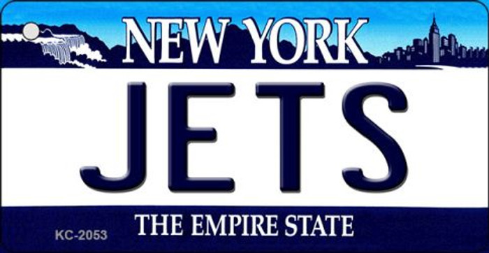 Jets New York State License Plate Key Chain KC-2053