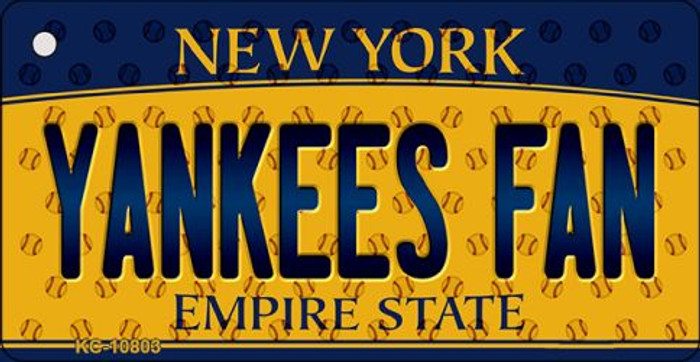 Yankees Fan New York State License Plate Key Chain KC-10803