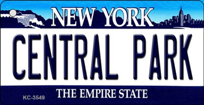 Central Park New York State License Plate Key Chain KC-3549