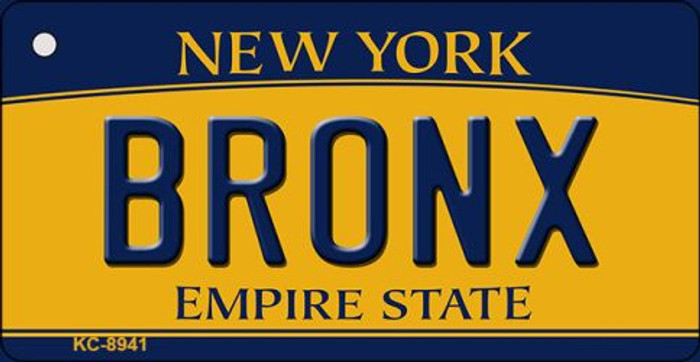 Bronx New York State License Plate Key Chain KC-8941