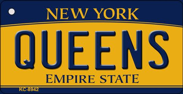 Queens New York State License Plate Key Chain KC-8942