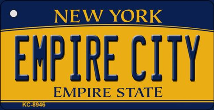 Empire City New York State License Plate Key Chain KC-8946