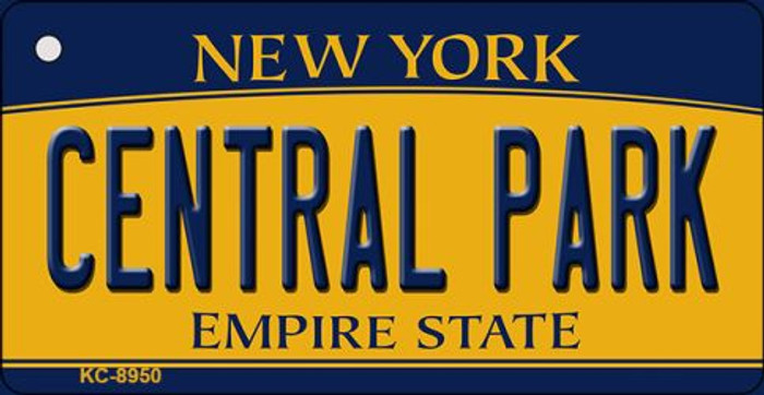 Central Park New York State License Plate Key Chain KC-8950