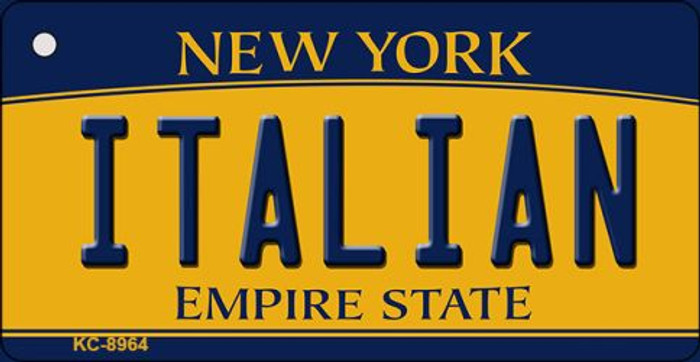 Italian New York State License Plate Key Chain KC-8964