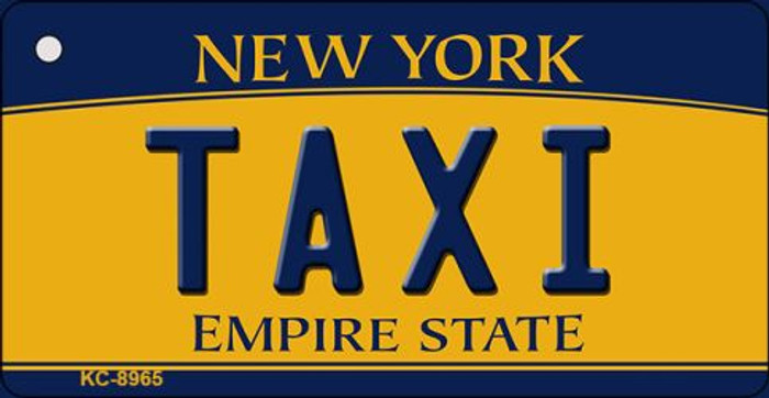Taxi New York State License Plate Key Chain KC-8965