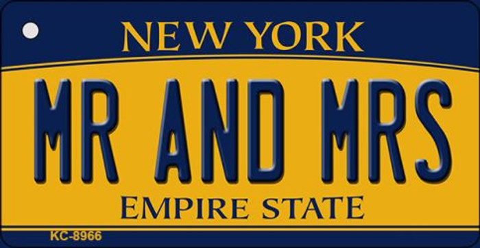 Mr and Mrs New York State License Plate Key Chain KC-8966