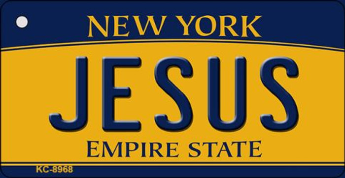 Jesus New York State License Plate Key Chain KC-8968