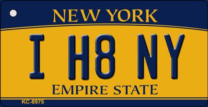 I H8 NY New York State License Plate Key Chain KC-8975