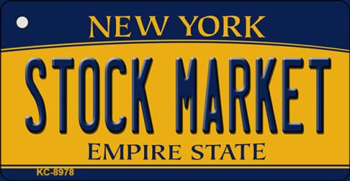 Stock Market New York State License Plate Key Chain KC-8978