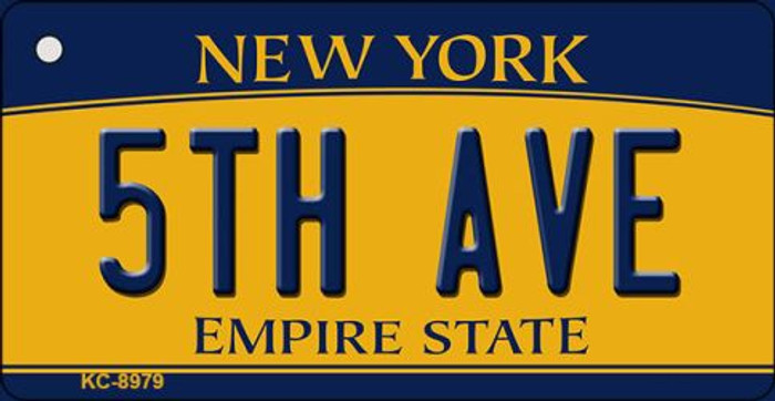 5th Ave New York State License Plate Key Chain KC-8979
