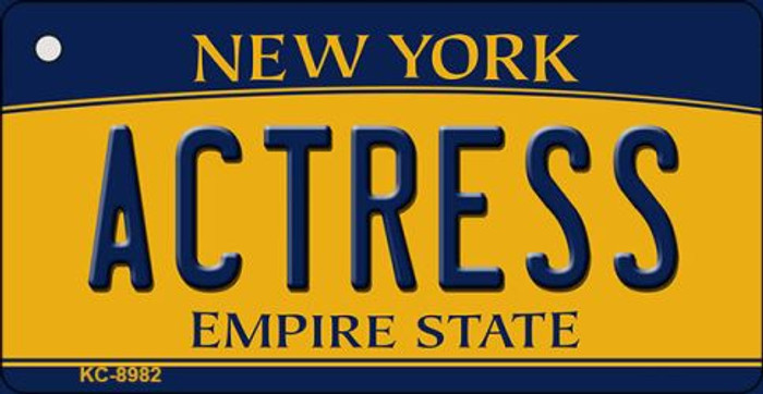 Actress New York State License Plate Key Chain KC-8982