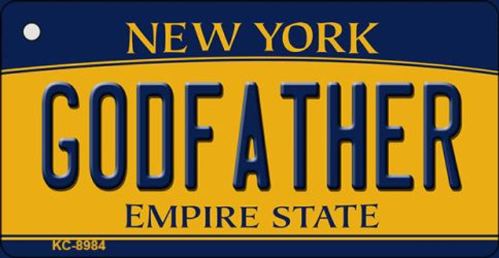 Godfather New York State License Plate Key Chain KC-8984
