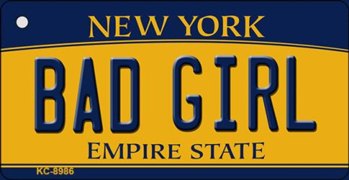 Bad Girl New York State License Plate Key Chain KC-8986