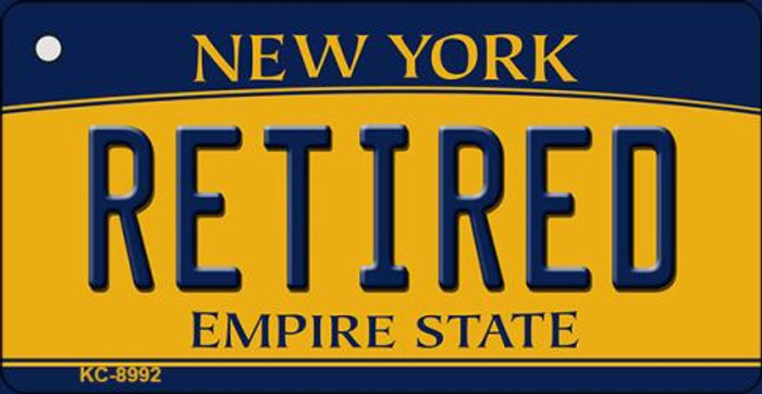 Retired New York State License Plate Key Chain KC-8992