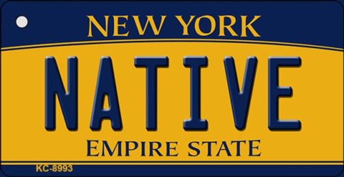 Native New York State License Plate Key Chain KC-8993