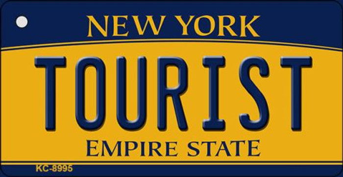 Tourist New York State License Plate Key Chain KC-8995
