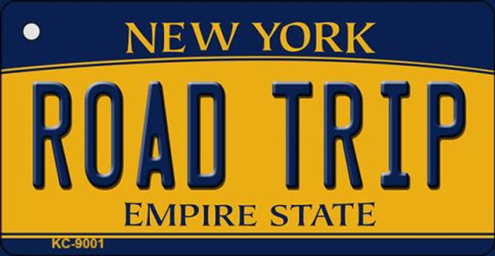Road Trip New York State License Plate Key Chain KC-9001