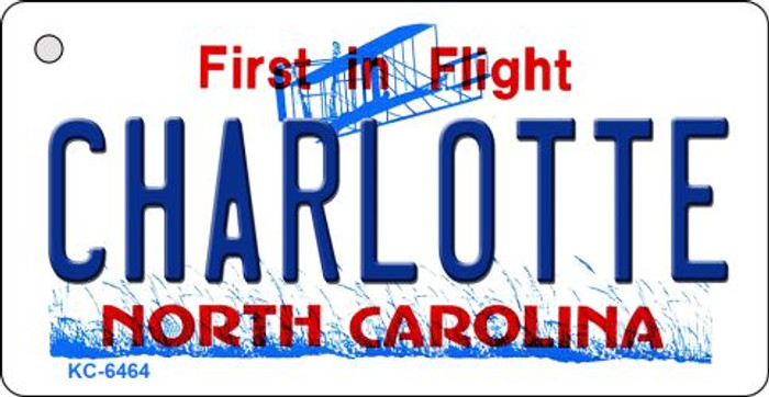 Charlotte North Carolina State License Plate Key Chain KC-6464