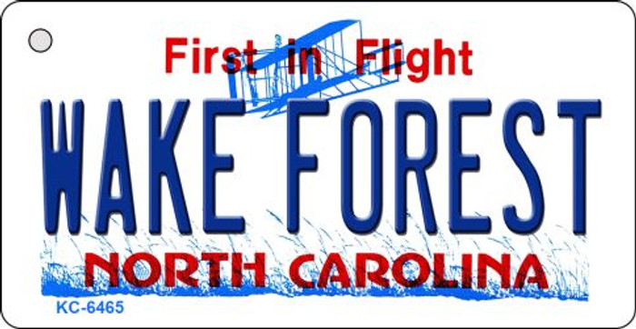 Wake Forest North Carolina State License Plate Key Chain KC-6465