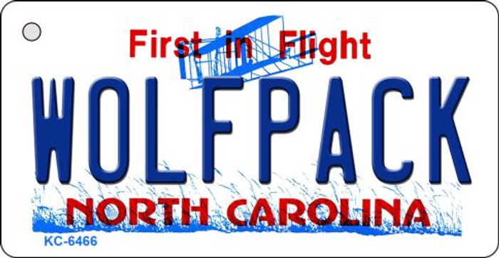 Wolfpack North Carolina State License Plate Key Chain KC-6466