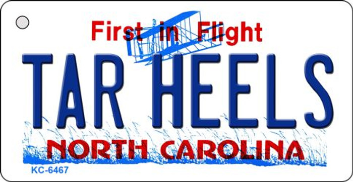 Tar Heels North Carolina State License Plate Key Chain KC-6467