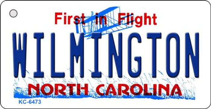 Wilmington North Carolina State License Plate Key Chain KC-6473
