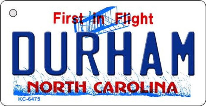 Durham North Carolina State License Plate Key Chain KC-6475