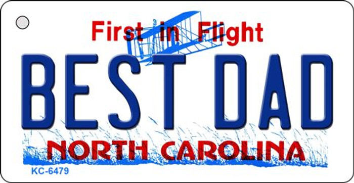 Best Dad North Carolina State License Plate Key Chain KC-6479