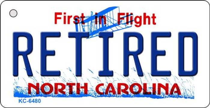 Retired North Carolina State License Plate Key Chain KC-6480