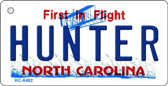 Hunter North Carolina State License Plate Key Chain KC-6482
