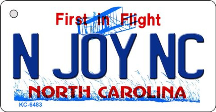 N Joy NC North Carolina State License Plate Key Chain KC-6483