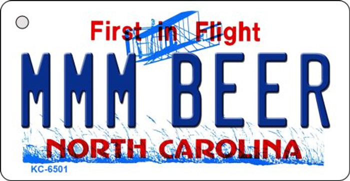 MMM Beer North Carolina State License Plate Key Chain KC-6501
